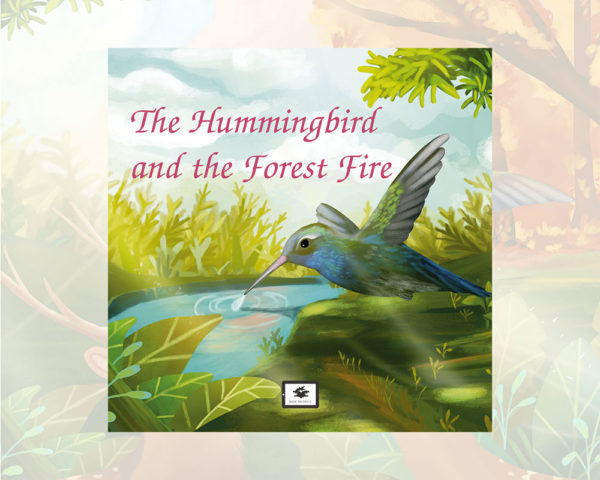 eBook cover for Book Prunelle's The hummingbird and the forest fire