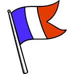 French flag for French language